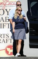 REESE WITHERSPOON in a Skirt Out in Los Angeles 10/22/2017