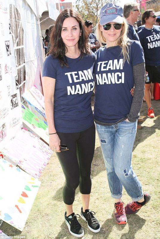 RENEE ZELLWEGER and COURTENEY COX at Annual LA County Walk to Defeat ALS 01/15/2017