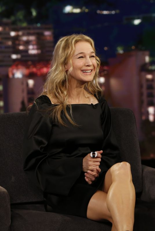 RENEE ZELLWEGER at Jimmy Kimme Live 10/11/2017