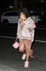 RIHANNA Arrives on th Set of a Photoshoot in New York 10/21/2017