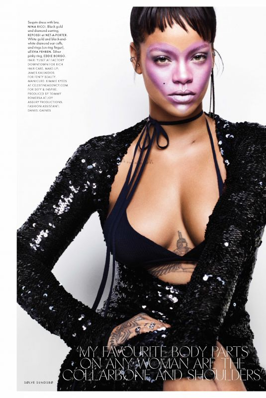 RIHANNA in Elle Magazine, UK October 2017 Issue