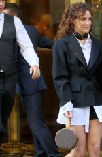 RILEY KEOUGH Leaves Hotel Le Bristol in Paris 10/02/2017