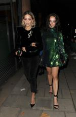 RITA and Her Sister ELENA ORA Leaves C Restaurant in London 10/23/2017