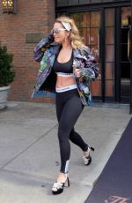 RITA ORA in Tights Leaves Her Hotel in New York 10/05/2017