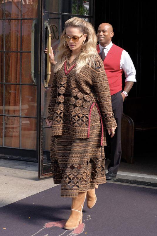 RITA ORA Leaves Her Hotel in New York 10/04/2017
