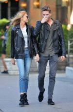 ROMEE STRIJD and Her Boyfriend Laurens Van Leeuwen Out and About in New York 10/22/2017