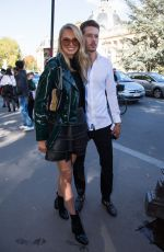 ROMEE STRIJD Arrives at Eelie Saab Fashion Show at Paris Fashion Week 09/30/2017