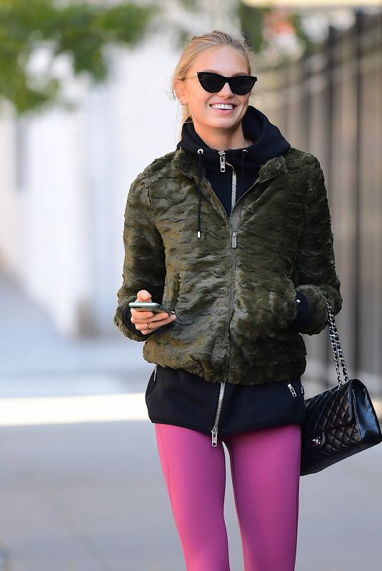 ROMEE STRIJD Leaves a Gym in New York 10/18/2017
