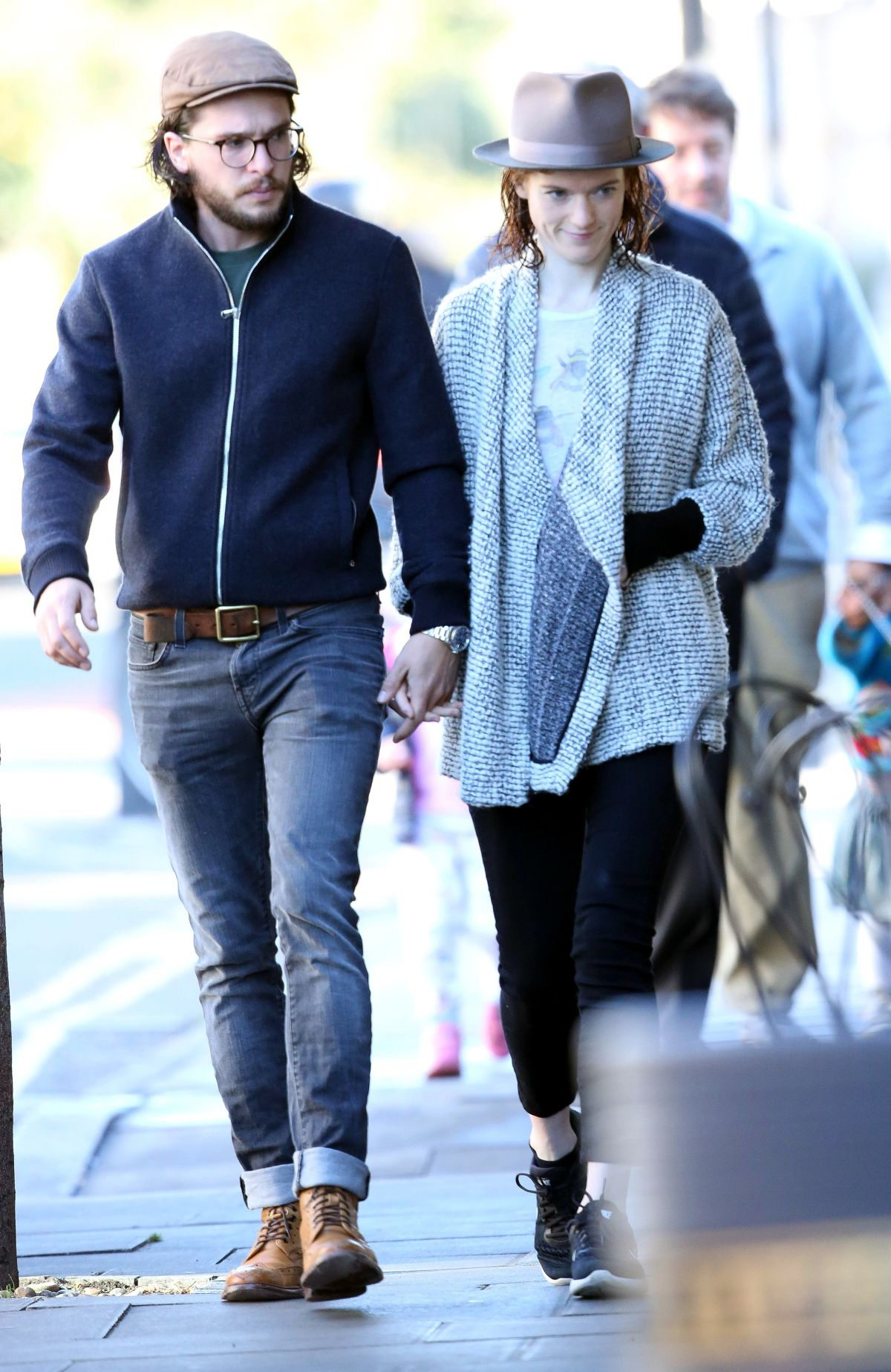 ROSE LESLIE and Kit Harington Out in London 10/06/2017 ...