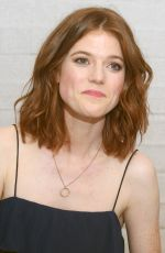 ROSE LESLIE at The Good Fight Press Conference in West Hollywood 10/12/2017