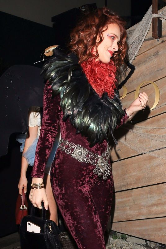 RUMER WILLIS at Matthew Morrison Halloween Party at Poppy Night Club in Hollywood 10/28/2017