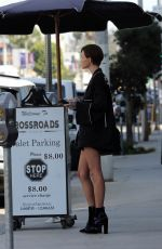 RUVY ROSE Waits at the Valet Stand for Her Car in West Hollywood 10/17/2017