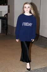 SABRINA CARPENTER Arrives at TRL in New York 10/25/2017