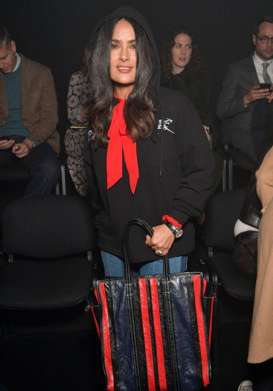 SALMA HAYEK Arrives at Balenciaga Fashion Show in Paris 10/01/2017