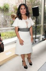 SALMA HAYEK at Giambattista Valli Show at Paris Fashion Week 10/02/2017