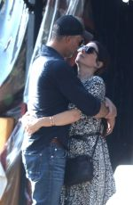 SANDRA BULLOCK and Bryan Randall Out Kissing in Beverly Hills 10/14/2017