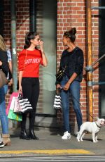 SARA SAMPAIO and JASMINE TOOKES Out Shopping in New York 10/22/2017