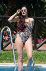 SARAH GOODHART in Swimsuit on Vacation in Marbella 10/06/2017