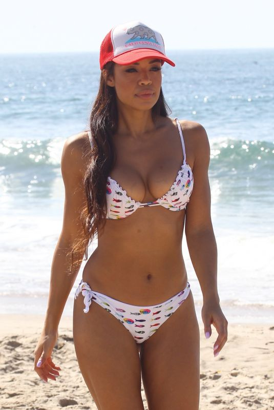 SARAH JANE CRAWFORD in Bikini on the Beach in Santa Monica 10/09/2017
