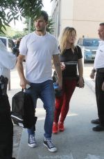 SASHA PIETERSE and Gleb Savchenko Arrives at a Dance Practice in Los Angeeles 10/15/2017