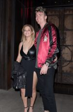 SASHA PIETERSE and Hudson Sheaffer Leaves Tao in West Hollywood 10/03/2017