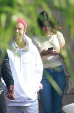 SELENA GOMEZ and Justin Bieber at a Church Services in Los Angeles 10/29/2017