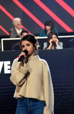 SELENA GOMEZ at One Coice: Somos Live! a Concert for Disaster Relief in Los Angeles 10/14/2017