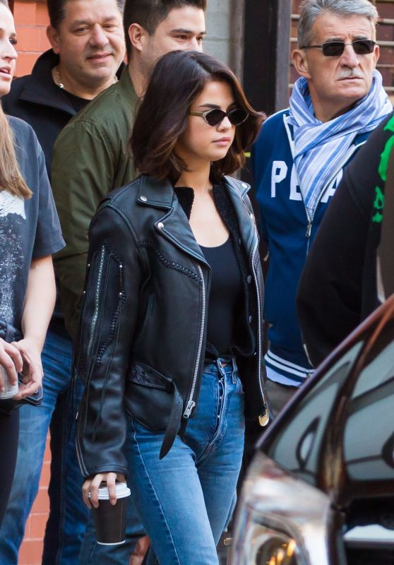 SELENA GOMEZ Heading to Hillsong Church Sunday Service at Hammerstein Ballroom in New York 10/01/2017