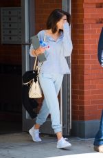 SELENA GOMEZ Leaves Her Apartment in New York 10/04/2017