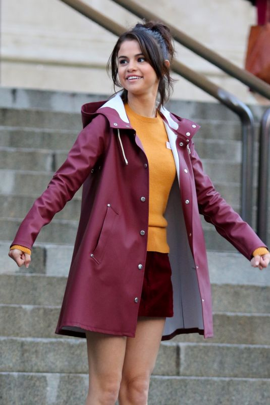 SELENA GOMEZ on the Set of Untitled Woody Allen Project in New York 10/04/2017