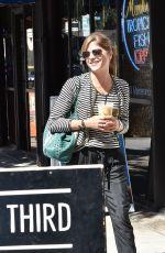 SELMA BLAIR Leaves Alfred Coffee in Studio City 10/04/2017