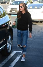 SELMA BLAIR with Her Dog at Fred Segal Parking Lot in Los Angeles 10/11/2017