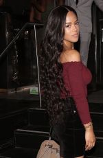 SERAYAH MCNEIL Out for Dineer at Katsuya in West Hollywood 10/01/2017