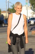 SERINDA SWAN Out with Her Dog in Hollywood 10/04/2017