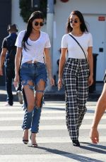 SHANINA SHAIK and NICOLE WILLIAMS Out for Coffee in Los Angeles 10/10/2017