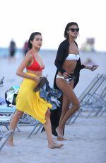 SHANINA SHAIK, CAROLINE LOWE, OLIVIA CULPO and DANIELA BRAGA in Bikinia on the Beach in Niami 10/19/2017