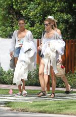 SHANINA SHAIK, OLIVIA CULPO, DEVON and ALEX WINDSOR, HANNAH FERGUSON and NADINE LEOPOLD Leaves Devon