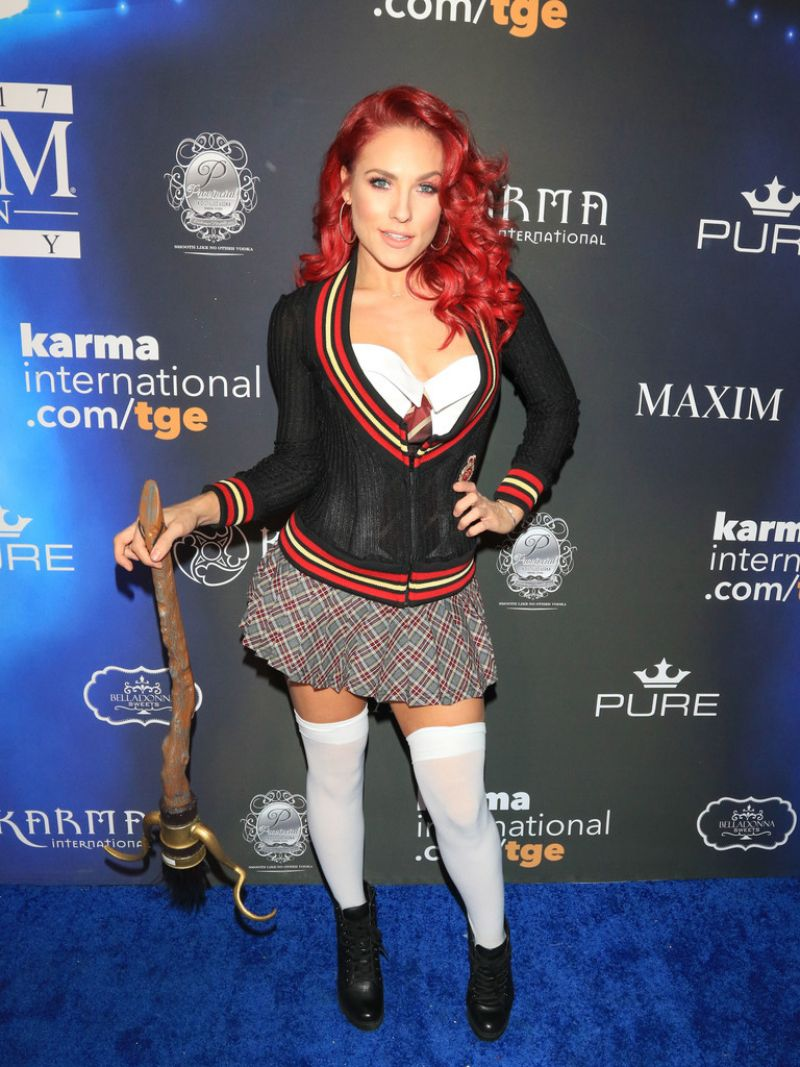 sharna burgess at 2017 maxim halloween party in los angeles 10212017