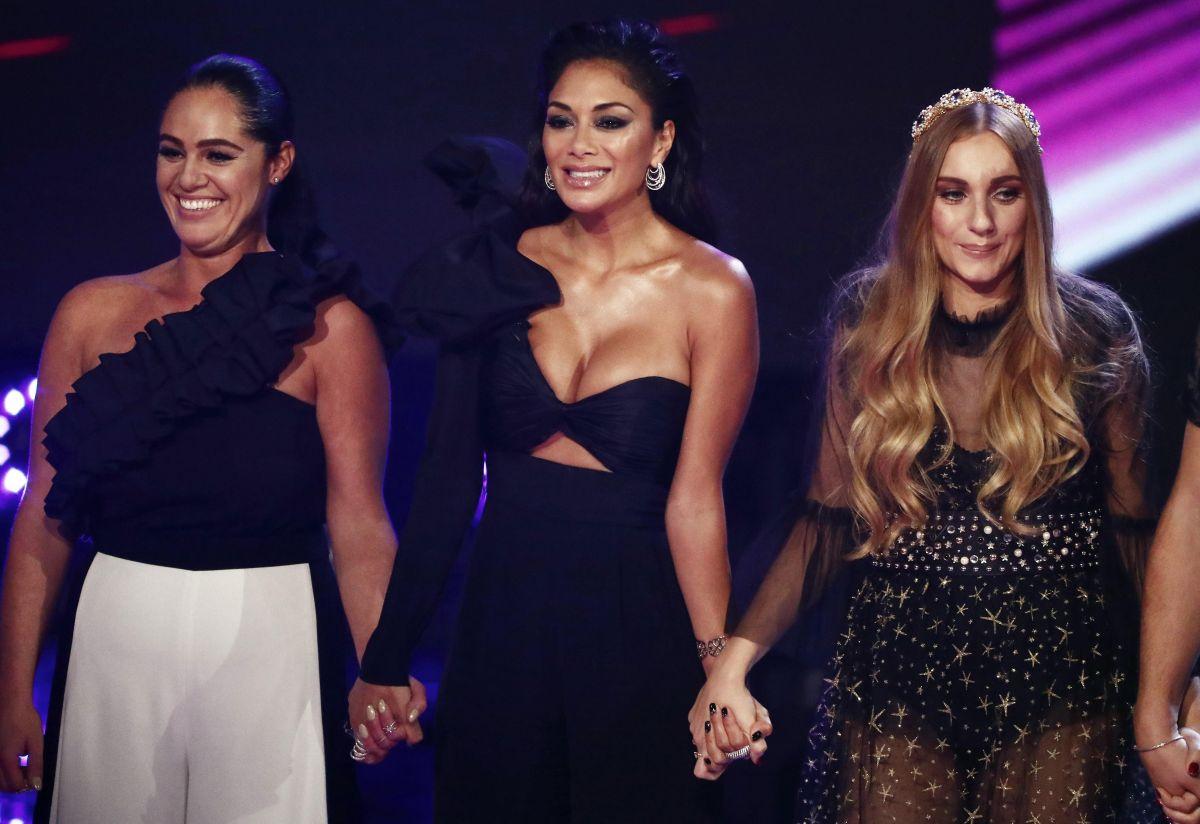Sharon Osbourne Nicole Scherzinger And Alesha Dixon At The X Factor Show 10 29