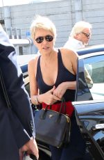 SHARON STONE at LAX Airport in Los Angeles 10/24/2017
