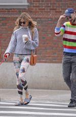 SIENNA MILLER and Tom Sturridge Walk Their Dog in New York 10/13/2017