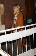 SIENNA MILLER Leaves Apollo Theatre in London 10/02/2017