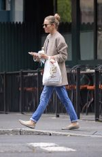 SIENNA MILLER Out in New York 10/11/2017