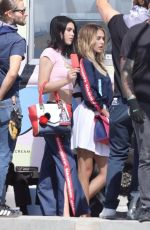 SISTINE and SCARLET STALLONE and AMELIA and DELILAH HAMLIN on the Set of a Photoshoot for a Japanese Luxury Fashion House in Santa Monica 10/15/2017