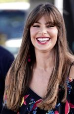 SOFIA VERGARA on the Set of Extra at Universal Studios 10/23/2017