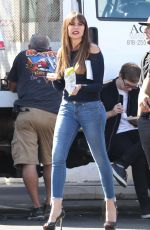 SOFIA VERGARA on the Set of Modern Family in Los Angeles 10/17/2017