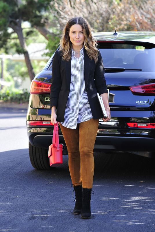 SOPHIA BUSH Heading to a Meeting in Los Angeles 10/03/2017