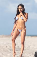 SOPHIA LEGER VALERE in Bikinis on the Set of Photoshoot at a Beach in Miami 10/09/2017