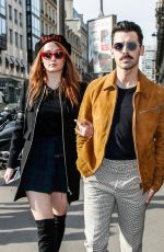 SOPHIE TURNER and Joe Jonas Out in Paris After Engagement 10/17/2017