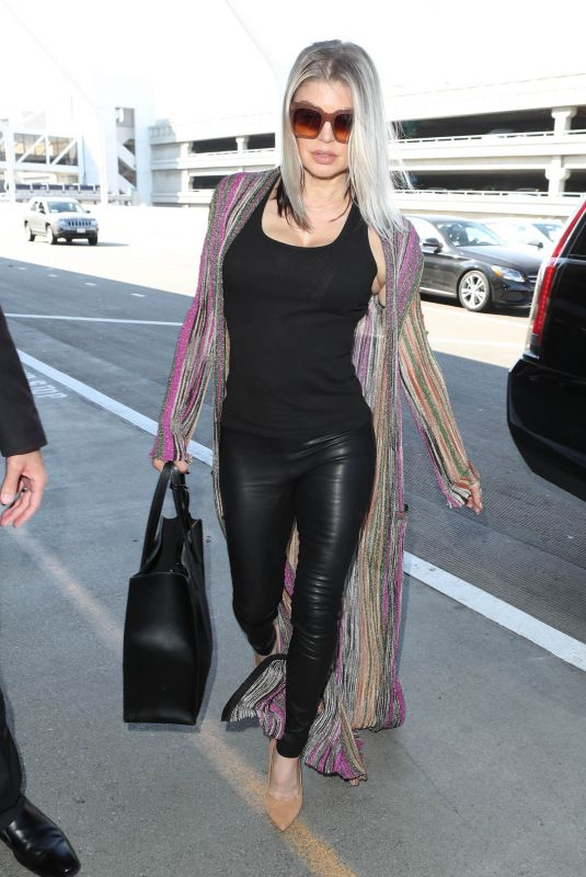 STACY FERGIE FERGUSON at LAX Airport in Los Angeles 10/18/2017
